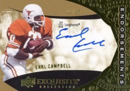 2014 Upper Deck Exquisite Endorsements Earl Campbell Autograph