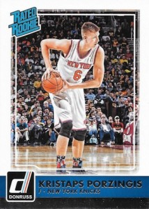 2015-16 Donruss Basketball Rated Rookies RC Kristaps Porzingis