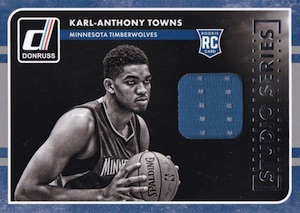 2015-16 Donruss Basketball Studio Series Rookie Jerseys Towns