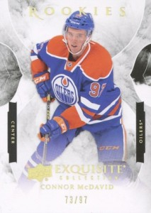 2015-16 Exquisite Collection Rookies Connor McDavid Gold Spectrum