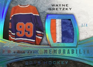 2015-16 Leaf Ultimate Hockey Memorabilia Patch Gretzky