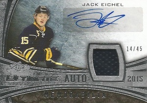 2015-16 Leaf Ultimate Jack Eichel Signature Jersey
