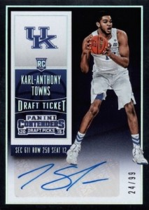 2015-16 Panini Contenders Draft Picks Karl-Anthony Towns #124 Autograph 1