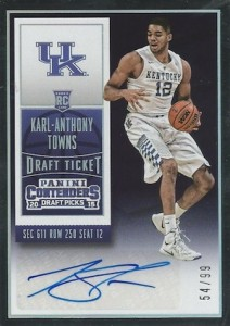 2015-16 Panini Contenders Draft Picks Karl-Anthony Towns #124 Autograph 2