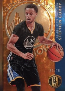 2015-16 Panini Gold Standard Basketball Base AU Steph Curry
