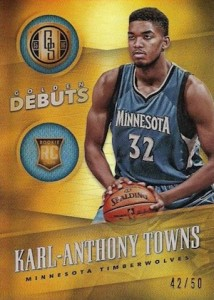 2015-16 Panini Gold Standard Basketball Golden Debuts Towns