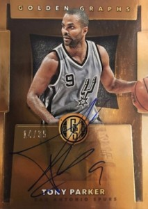 2015-16 Panini Gold Standard Basketball Golden Graphs Tony Parker
