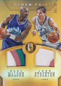 2015-16 Panini Gold Standard Basketball Golden Pairs Stockton Malone Patch