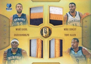 2015-16 Panini Gold Standard Basketball Golden Quads Patch Memphis