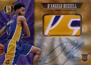 2015-16 Panini Gold Standard Basketball Rookie Jersey Autographs Jumbo Patch Russell