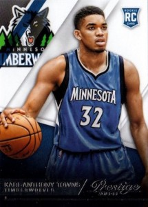 2015-16 Panini Prestige Karl-Anthony Towns RC #207