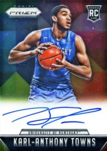 2015-16 Panini Prizm Basketball Rookie Signatures Karl-Anthony Towns
