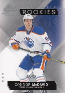 2015-16 SP Game Used Connor McDavid RC #197