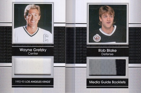 2015-16 SP Game Used Media Guide Booklets Gretzky