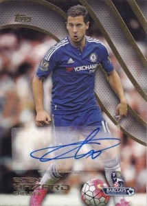 2015-16 Topps Premier Gold Soccer Premier Autographs Eden Hazard