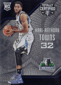 2015-16 Totally Certified Karl-Anthony Towns RC #168
