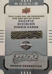 2015-16 Upper Deck MVP Rookie Redemptions Connor McDavid Pacific