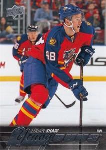 2015-16 Upper Deck Series 2 Hockey RC 454 Logan Shaw