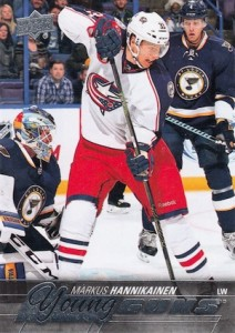2015-16 Upper Deck Series 2 Hockey RC 493 Markus Hannikainen