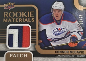 2015-16 Upper Deck Series 2 Hockey Rookie Materials Patch McDavid