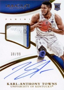 2015 Panini Immaculate Collection College Multi-Sport Karl-Anthony Towns #341 Autograph Patch