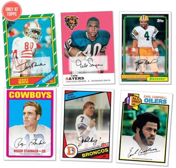 2015 Topps 60th Anniversary Retired Autograph Football Cards 1