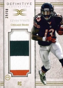 2015 Topps Definitive Collection Football Jumbo Patch Kevin White