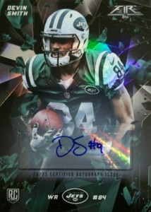 2015 Topps Fire Football Autograph