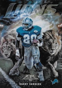 2015 Topps Fire Football Into the Wild Barry Sanders
