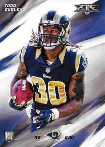 2015 Topps Fire Football Todd Gurley RC