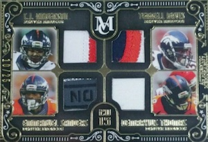 2015 Topps Museum Collection Football Combo Quad Relics Broncos