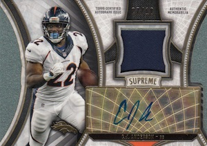 2015 Topps Supreme Football Autograph Patch