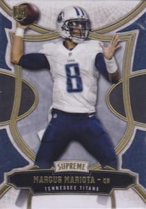 2015 Topps Supreme Football Base RC Mariota