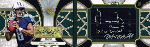 2015 Topps Supreme Football Playbook Autographs Mariota