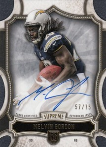 2015 Topps Supreme Football Rookie Autograph
