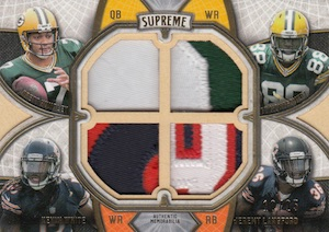 2015 Topps Supreme Football Rookie Quad Combos Patches
