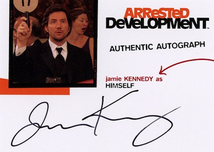 2016 Cryptozoic Arrested Development Autographs Jamie Kennedy