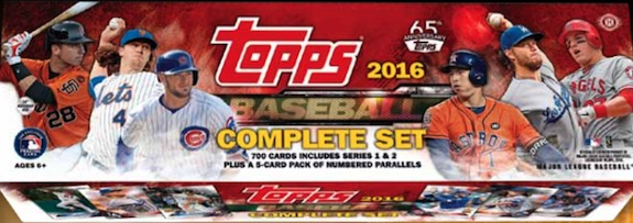 2016 Topps Baseball Complete Set - 65th Anniversary Online Exclusive 2