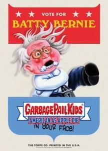2016 Topps Garbage Pail Kids Campaign Posters Bernie Sanders