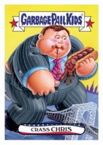 2016 Topps Garbage Pail Kids Presidential Candidate New Hampshire Chris Christie