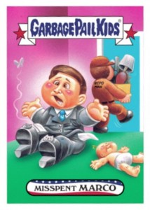 2016 Topps Garbage Pail Kids Presidential Candidate New Hampshire Marco Rubio