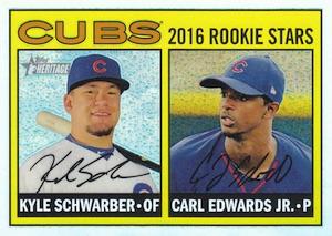 2016 Topps Heritage Baseball Chrome Refractor Schwarber