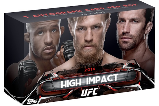 2016 Topps UFC High Impact Cards 1