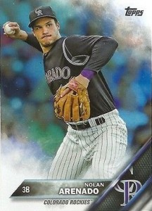 2016 Topps Series 1 Baseball Base Arenado