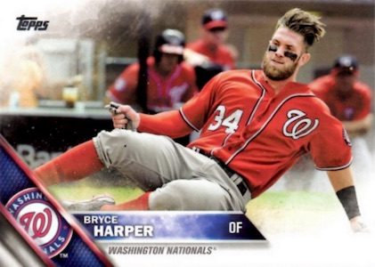 2016 Topps Series 1 Baseball Base Bryce Harper