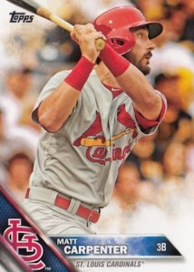 2016 Topps Series 1 Baseball Base Carpenter