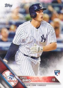 2016 Topps Series 1 Baseball Base Greg Bird RC