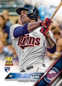 2016 Topps Series 1 Baseball Base Miguel Sano RC