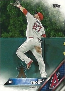 2016 Topps Series 1 Baseball Base Mike Trout