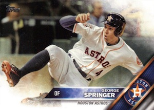 2016 Topps Series 1 Baseball Base Springer